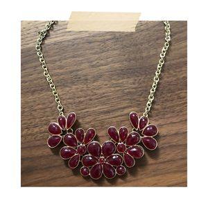 Francesca's   Burgundy Statement Necklace